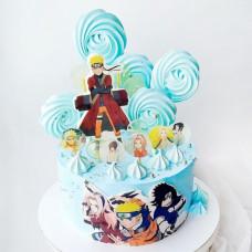 Торт Аниме с топперами