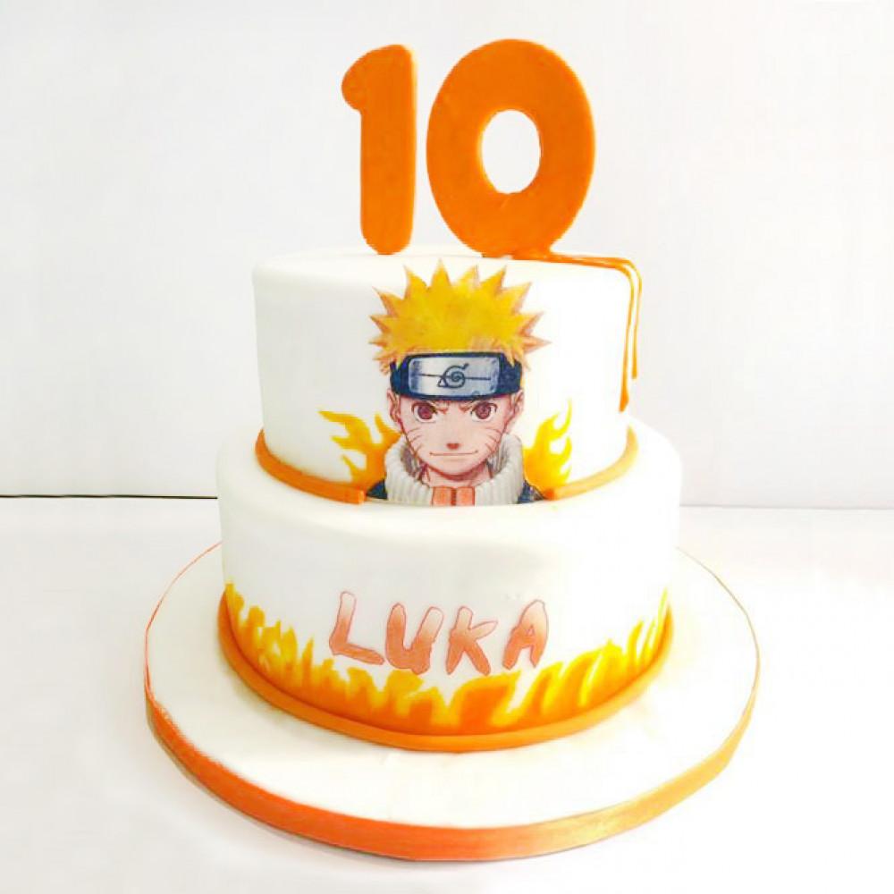 Торт Наруто на 10 лет