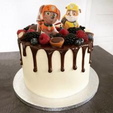 Торт Щенячий патруль с ягодами