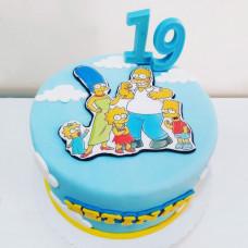 Торт Симпсоны на день рождение