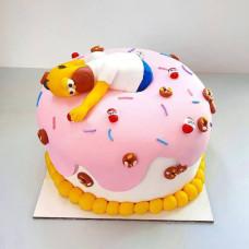 Торт Гомер в пончике