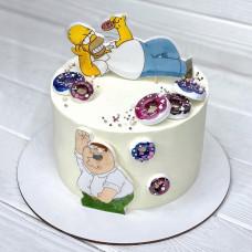 Торт в стиле Симпсонов