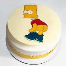 Торт с Бартом Симпсоном