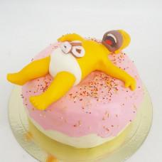 Торт пончик Гомера