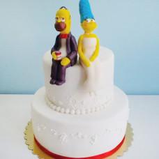 Свадебный торт Симпсоны
