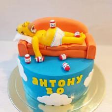 Торт Гомер на диване