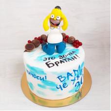 Торт с Гомером Симпсоном