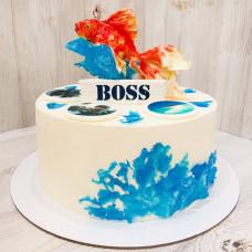 Торт золотая рыбка для босса