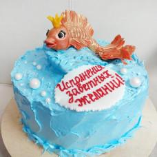 Торт золотая рыбка из крема