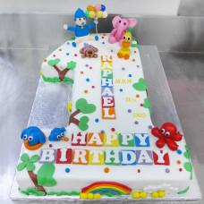 Торт на 1 год метрика