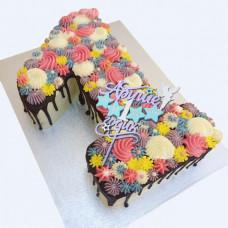 Торт с метрикой без мастики