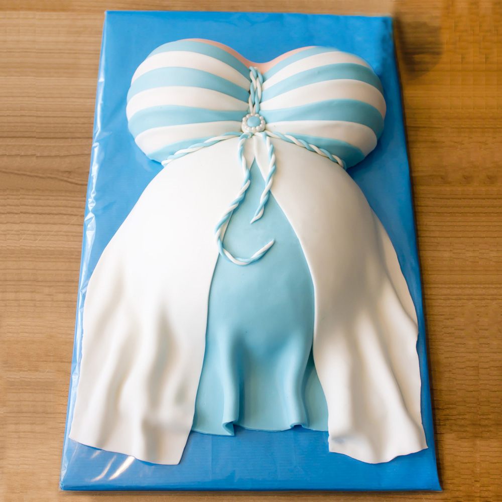 Торт беременный живот