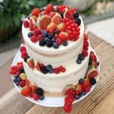Двухъярусный торт без глютена