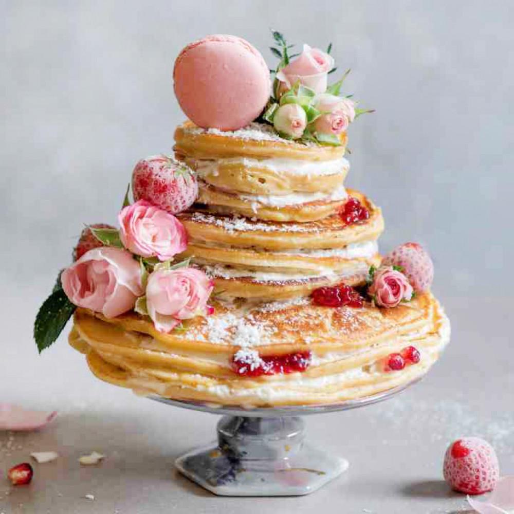 Низкокалорийный блинный торт