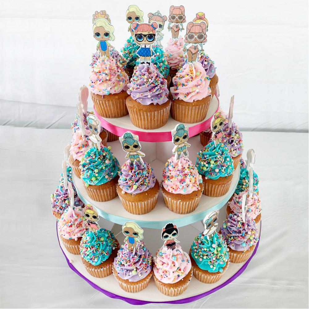 Торт из капкейков на день рождения девочки