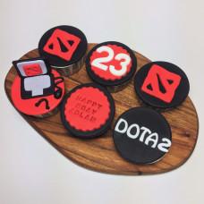 Капкейки с логотипом игры Dota 2