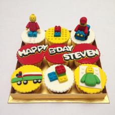 Капкейки Лего на день рождения