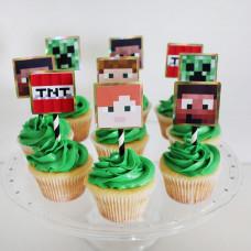 Капкейки Minecraft с фотопечатью