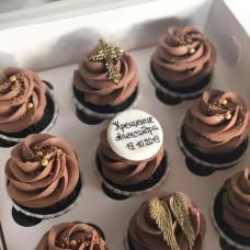 Шоколадные капкейки на крестины без мастики