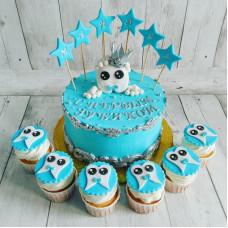Торт с капкейками на 1 зубик мальчику