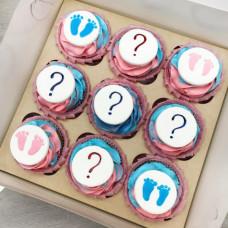 Пирожные для вечеринки по случаю определения пола ребенка