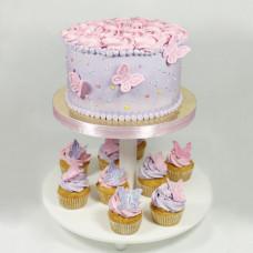 Капкейки с тортом на рождение ребенка