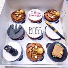 Капкейки для босса ко дню рождения