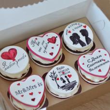 Капкейки на День Валентина
