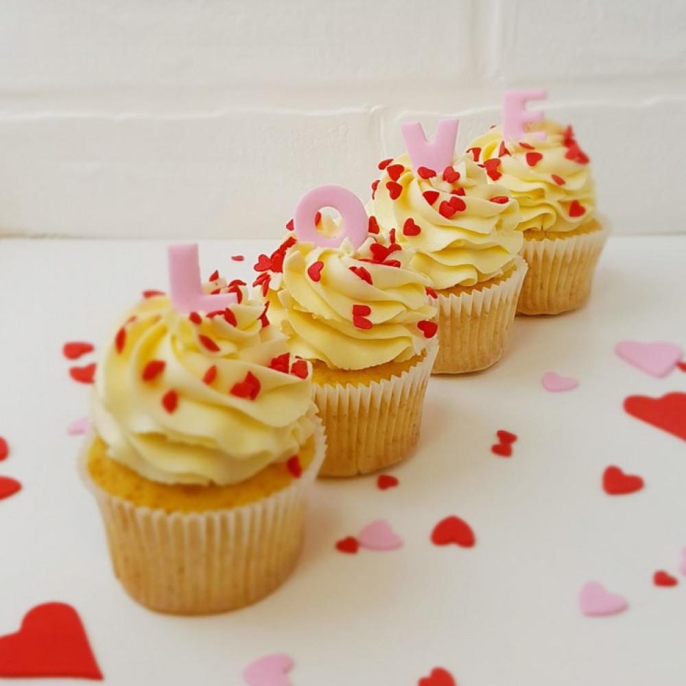Капкейки на День Святого Валентина любимой