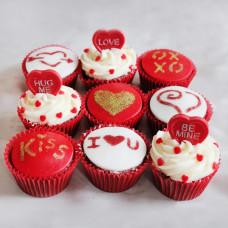 Капкейки и пирожные на 14 февраля