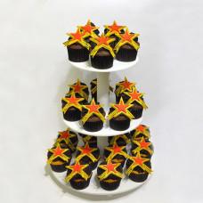 Торт из капкейков на День победы