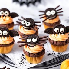 Капкейки на Halloween без мастики