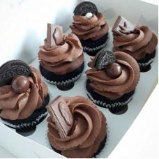 Шоколадные капкейки для мужчины