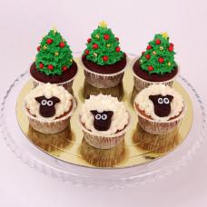 Капкейки елочки и овечки