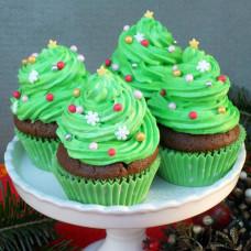 Пирожные с новогодней елочкой