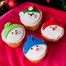 Капкейки со снеговиками