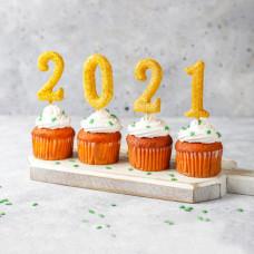 Капкейки на Новый год 2021
