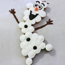 Торт из капкейков в виде снеговика