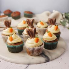 Капкейки на Пасху с зайчиком и морковкой