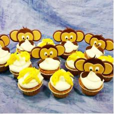 Капкейки с обезьянками и бананами