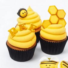 Капкейки мед, пчелка и соты
