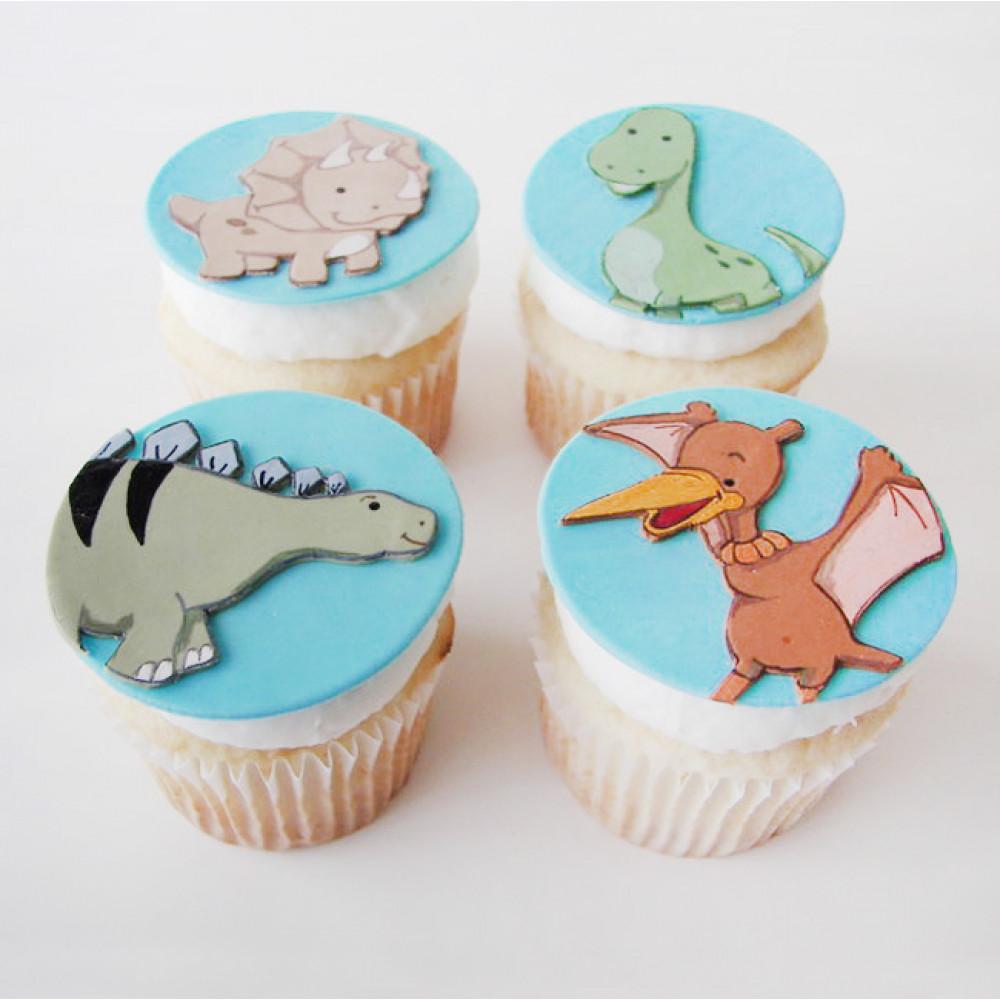 Детские пирожные с динозаврами