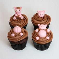 Капкейки свинки в грязи