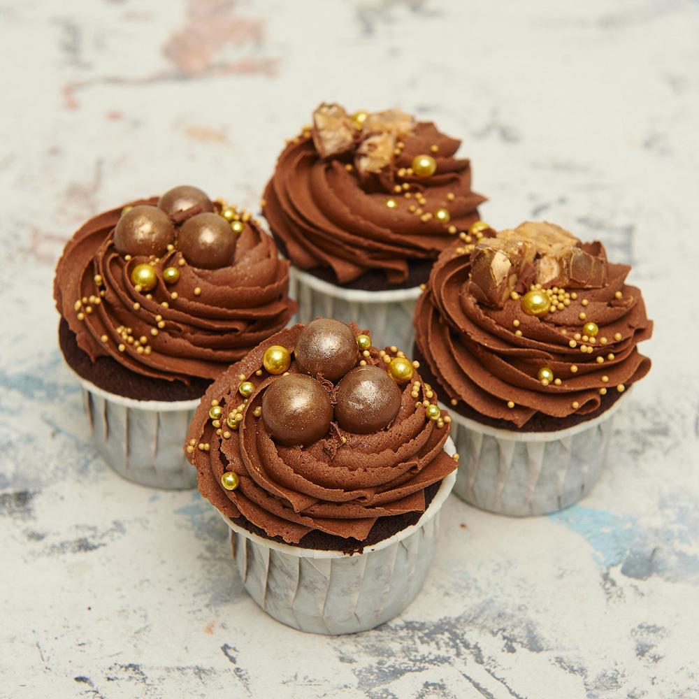 Шоколадные капкейки на свадьбу