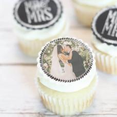 Свадебные капкейки с фото и надписями