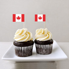 Капкейки флаг Канады