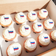 Капкейки флаг России