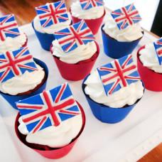 Капкейки британский флаг