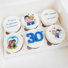 Капкейки Love is на юбилей 30 лет