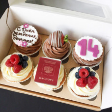 Капкейки паспорт на день рождения